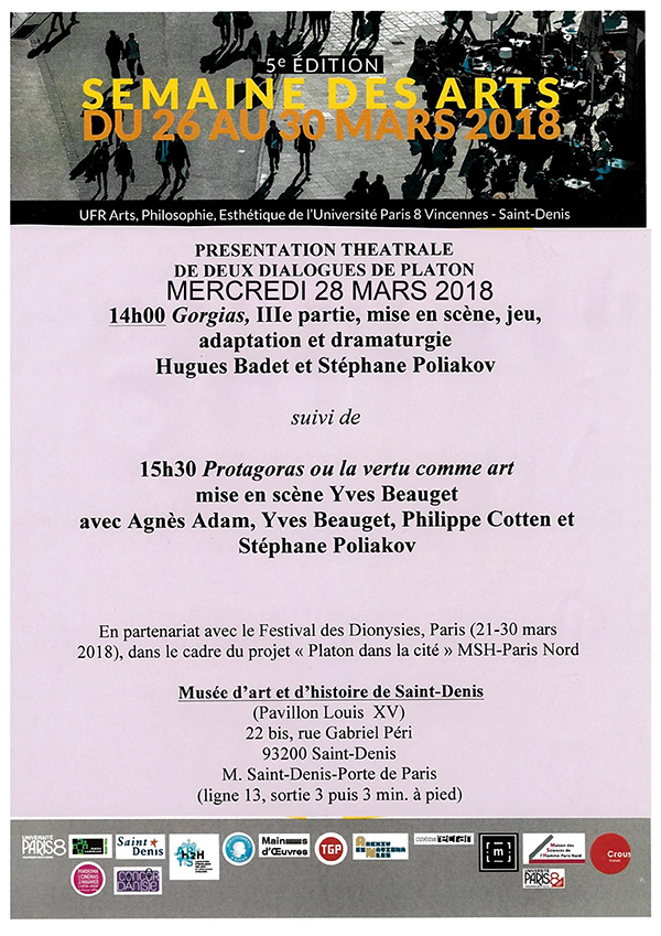 Gorgias De Platon 3 E Partie Ufr Arts Philosophie Esthetique